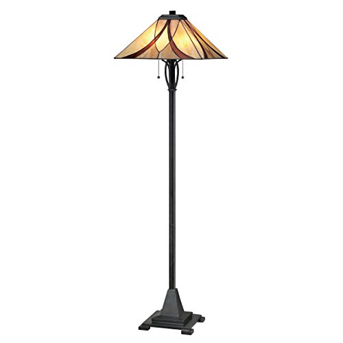 Chandelier Tiffany Valiant Bronze (Quoizel TFAS9360VA 2-Light Asheville Floor Lamp in Valiant Bronze)