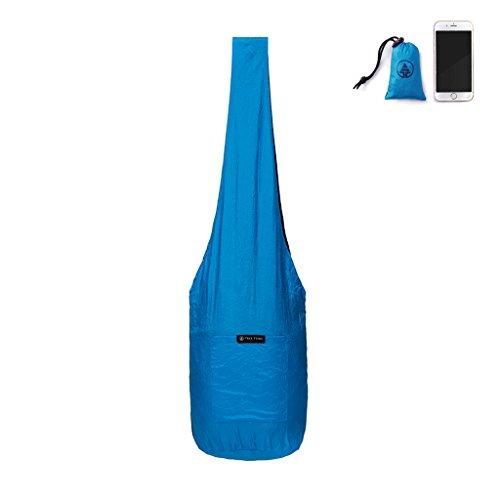 Sling Bag - Portable Reusable Market Bag, Beach Tote, Groceries, Hiking, Travel - Blue ()