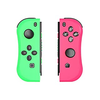 Railay NS Switch Joy Pad Controllers-Left and Right Controllers for switch as a Joy Con Controller Replacement (Neon Pink/Neon Green)