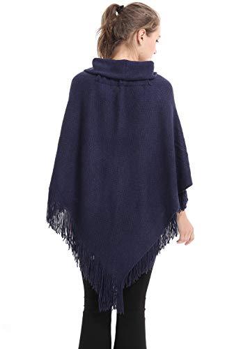 Dark Toggles Poncho Cape Tassels Cloak A Women Ladies Shawl Crochet