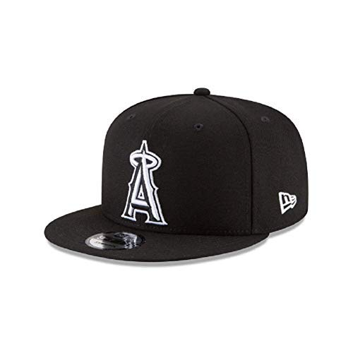 (New Era Los Angeles Angels of Anaheim MLB Basic Black White 9Fifty Snapback)