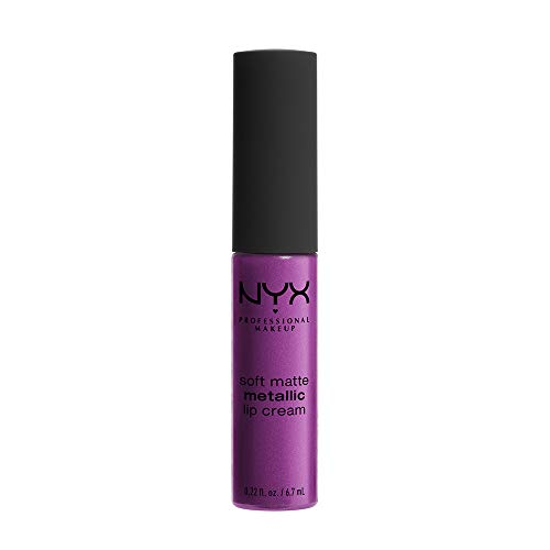 NYX PROFESSIONAL MAKEUP Soft Matte Metallic Lip Cream, Seoul, 0.22 Ounce