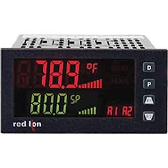 Red Lion PAX2C Temperature/Process PID Controller, 1/8 DIN, Horizontal ()