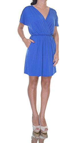 Waist Short Bar Tie III Sleeve Dress Women's Lazulite Wrap wPffXqvxO