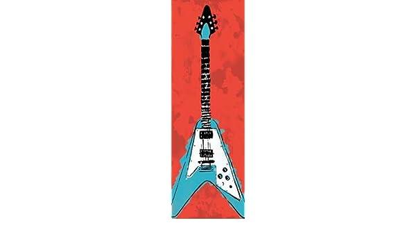 feelingathome. it, impresión sobre lienzo 100% algodón sin guitarra eléctrica A3 cm 234 x 79 (cm personalizables a opcional): Amazon.es: Hogar
