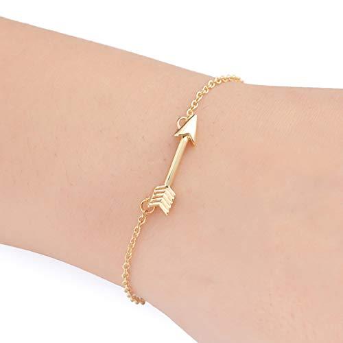 - Peigen Women Girl Charm Bracelet Jewelry Gift,Fashion Womens Arrow Retro Alloy Chain Bracelet Jewelry Anklet Gift (Gold)