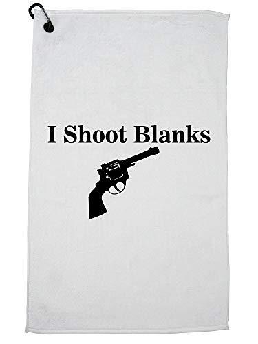 (Hollywood Thread I Shoot Blanks - Vasectomy Hand Gun Revolver Golf Towel Carabiner Clip)