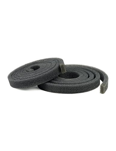 Reticulated Black Foam Stripping - 1'' Wide X 6' Long X 1/2'' Thick: 30 PPI, 2 Pack by Cleverbrand