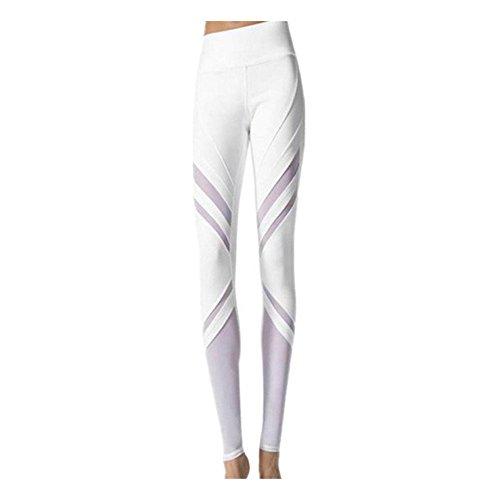 Dallas Club Chair - Women Leggings, Gillberry Women Sports Trousers Athletic Gym Workout Fitness Yoga Leggings Pants (White B, M)