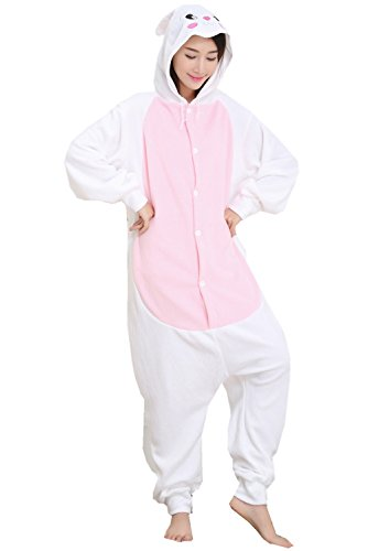 Bunny Girl Kigurumi One Piece Funny Halloween Costumes Cosplay L (Bunny Halloween Costume Ideas)