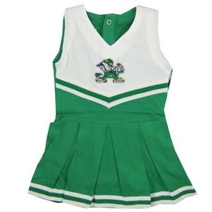 - Creative Knitwear University of Notre Dame Fighting Irish Baby and Toddler Cheerleader Bodysuit Dress