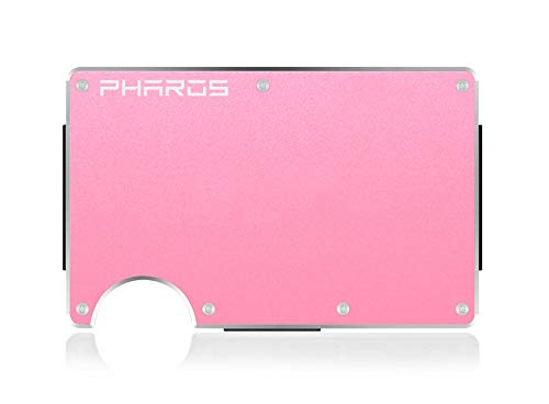 Pharos Smart Wallet - Aluminum or Carbon Money Clip and Cash Strap Multipurpose. Minimalist, RFID (Rose Gold XL) (Accessories Pharos)