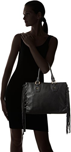 Shopper Borsa Manici schwarz Donna Nera Otto Kern Con CzwAxA