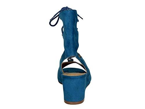 Bleu Suède Sandales CH24522717 Femme Chloé n0P7qxZ4wY