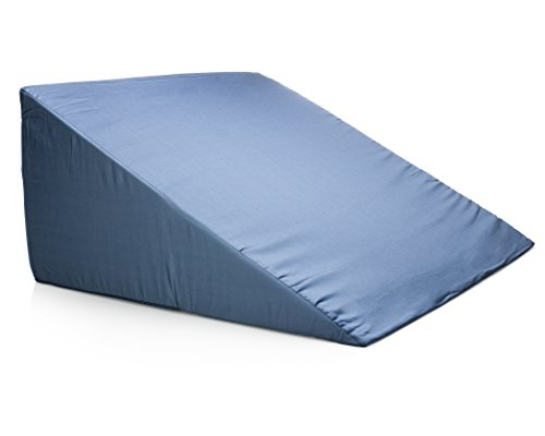 Back Bed Wedge - Clinical Therapeutic Grade Incline Sleeping Wedge Pillow - Acid Reflux GERD Reliever, Pain Relief, Snoring Reducer, Pregnancy - Uni sex Blue (Healthy Back Wedge)
