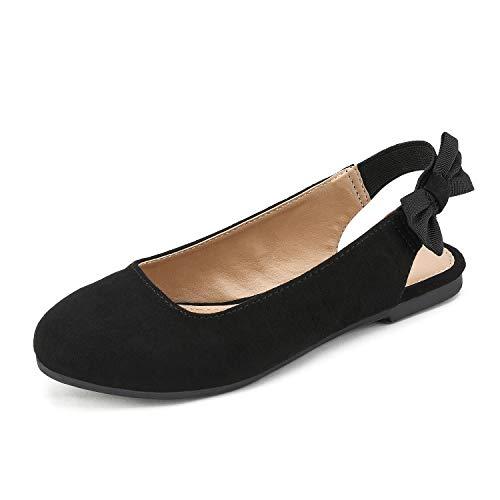 DREAM PAIRS Girl's Elisa-1 Slingback Flats Dress Shoes