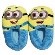 Minion Plush Slippers Flip-Flops & Slippers at amazon