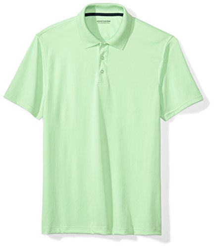 Amazon Essentials Men's Slim-Fit Quick-Dry Golf Polo Shirt, Lime Green, Small