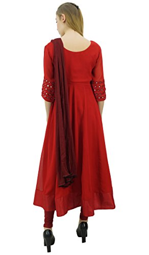 Clothing Georgette Designer Atasi Embroidery Casual 6 Anarkali Women's Red Suit SnYPn8t