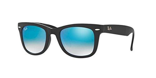 Ray-Ban Men's Folding Wayfarer Square Sunglasses, Light Havana & Crystal Brown Gradient, 50 mm