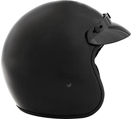 Fuel Helmets SH-OF0016 O5 Series Open Face Helmet, Gloss Black, Large by Fuel Helmets (Image #1)