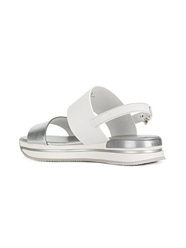 HXW2570AI30IYO0906 White Leather Hogan Sandals Women's Silver vqSZwH05