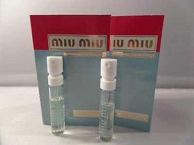 Miu Miu Sample-Vials For Women, 0.04 oz EDP *Lot Of 2* *Free Name Brand Sample-Vials With Every (0.04 Ounce Vial)