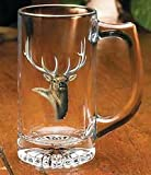 Elk Portrait Stein Glasses by Rosemary Millette