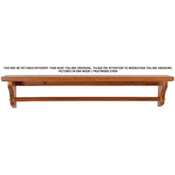 amazon com towel bar shelf 30 solid oak wood custom handmade by