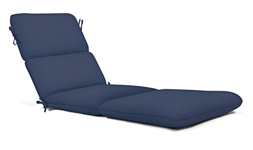 - Strathwood AZ2315-3012 Sunbrella Canvas Outdoor Chaise Lounge Cushion, Large, Navy Blue