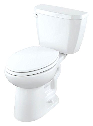 Gerber GHE21519 Viper 2 Piece High Efficiency Compact Elongated Toilet in White