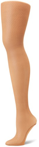 Capezio Women's Professional Fishnet Seamless Tight, Suntan, Small/Medium (Dance Capezio Tights Tan)