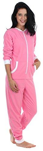 Sleepyheads Women's Adult Non Footed Fleece Color Onesie Pajama Jumpsuit (Adult Fleece Pajamas)