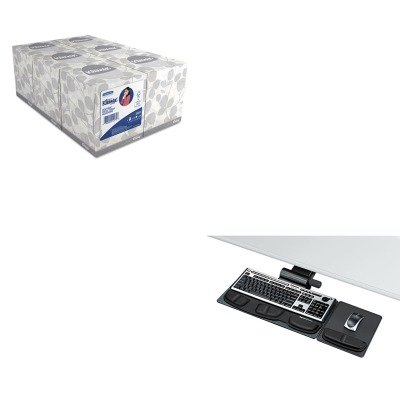 KITFEL8036001KIM21271 - Value Kit - Fellowes Professional Premier Adjustable Keyboard Tray (FEL8036001) and KIMBERLY CLARK KLEENEX White Facial Tissue (KIM21271) by Fellowes