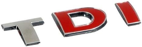 3D07228 - Rojo Emblema cromado 3D etiqueta insignia logotipo ...