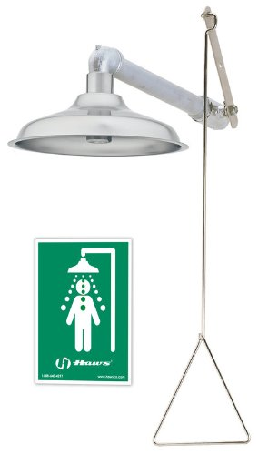 Haws 8123 Horizontal/Vertical Drench Shower with Axion MSR Stainless Steel Showerhead