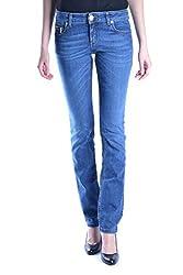 Dirk Bikkembergs Women S Mcbi14156 Blue Cotton Jeans