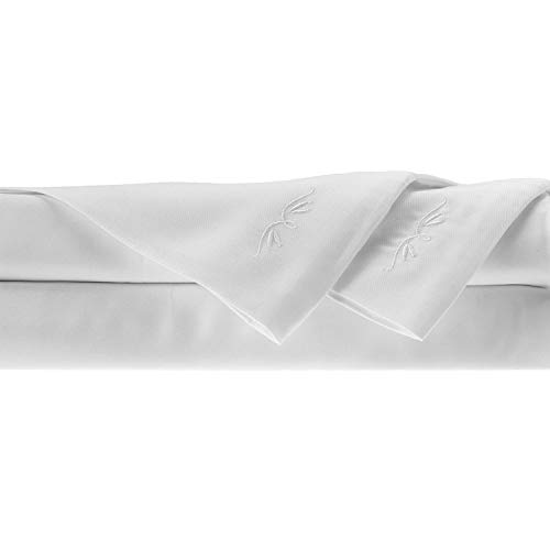 BedVoyage 100% Rayon/Viscose from Bamboo Queen Sheet Set in White
