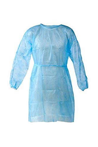 Life by Shoppers Stop Protective Half Laminated Gown – Pack of 1 Light Blue