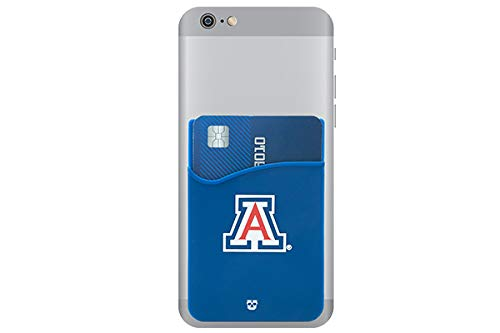 Arizona Wildcats Adhesive Silicone Cell Phone Wallet/Card Holder for iPhone, Android, Samsung Galaxy, Most Smartphones