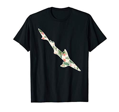 Dogfish Flower Girl Print Floral Spurdog Hawaiian Women Gift T-Shirt -