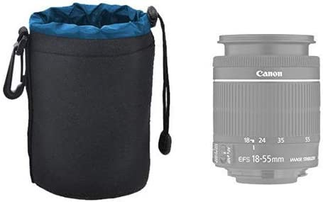 Medium Neoprene Soft Lens Pouch For Canon EF 85mm f//1.2L II USM Lens Canon EF-S 15-85mm f//3.5-5.6 IS USM Lens /& More Canon EF 24-70mm f//4L IS USM Lens