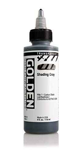 - 4oz. High Flow Acrylic Paint Color: Transparent Shading Gray
