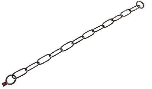 Herm Sprenger Black Stainless Steel Fur Saver 26'' Long Link by Herm Sprenger