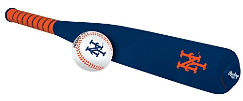 MLB Foam Bat and Ball Set New York Mets,One Size,Blue (Mets York Ball New)