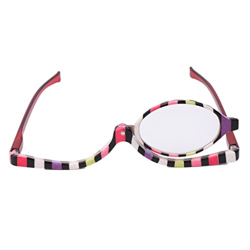 Yumian Magnifying Glasses Makeup Cosmetic Reading Glass Folding Eyeglasses +1.0~+4.0 - And Difference Plastic Glass Between Lenses