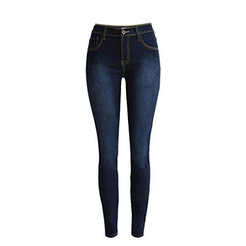 Jeans,UPLOTER Women Dark Blue Jeans Stretch Pencil Trousers Denim Skinny Slim Pants
