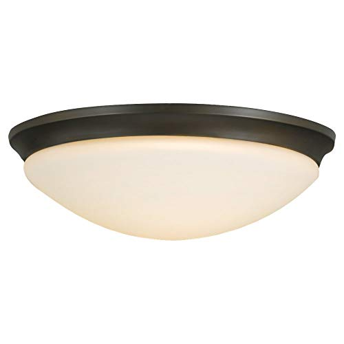Feiss FM273ORB Barrington Glass Flush Mount Ceiling Lighting, Bronze, 3-Light (17