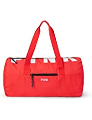 Victorias Secret Pink Friday Logo Duffel Tote Neon Red Candy Coral