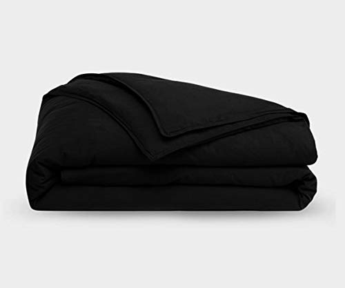 Bombay Home Store 1 PC Duvet Cover Only King Size Solid Black, Ultra Soft Double Brushed Microfiber Hotel Collection - Comforter Cover with Zipper Closure by The Great American Store ()